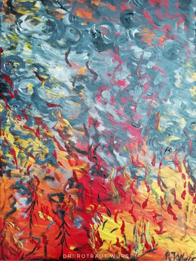 Acryl Painting by Dr. Rotraut Wurst